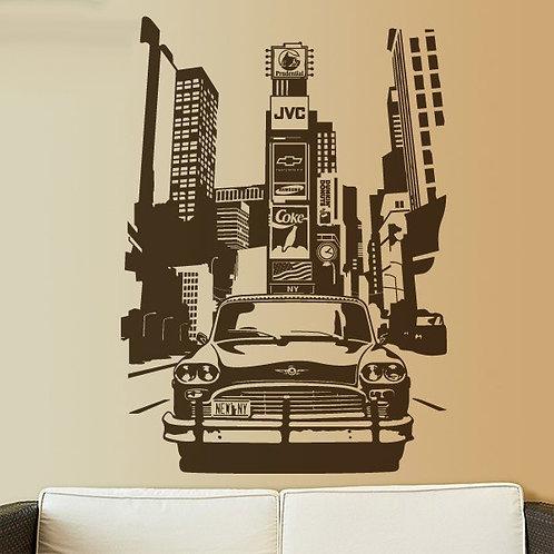Vinilo decorativo Taxi Nueva York