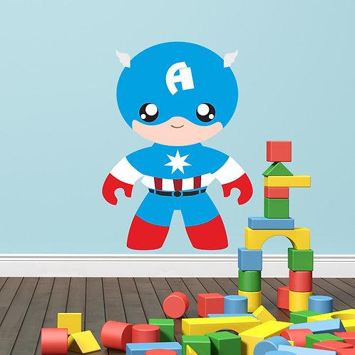 Vinilo decorativo infantil Capitán América