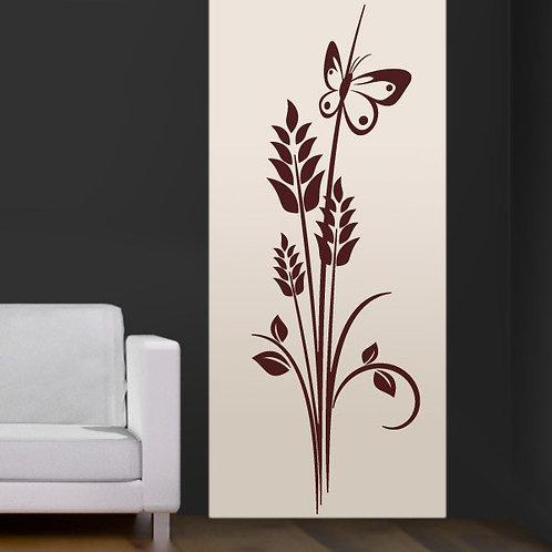 Vinilo decorativo Floral espigas de trigo