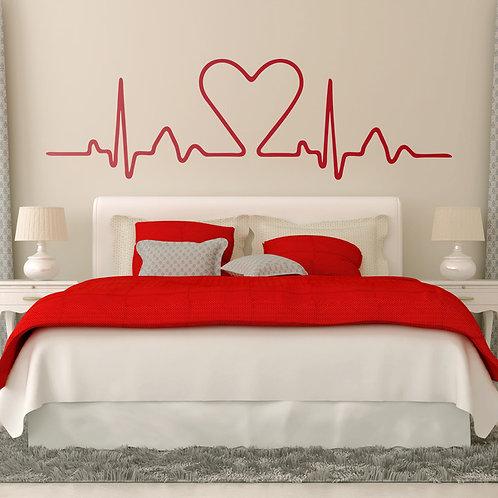 Vinilo cabecero Electrocardiograma Corazón