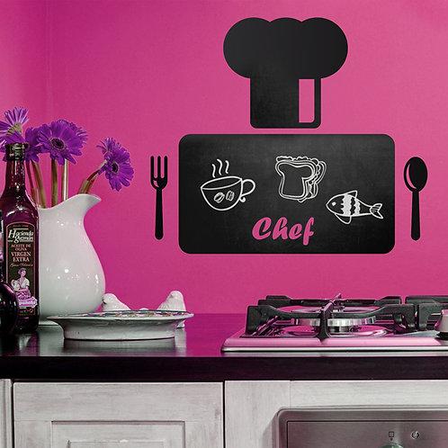 Vinilo de pizarra para cocina Tabla del Chef
