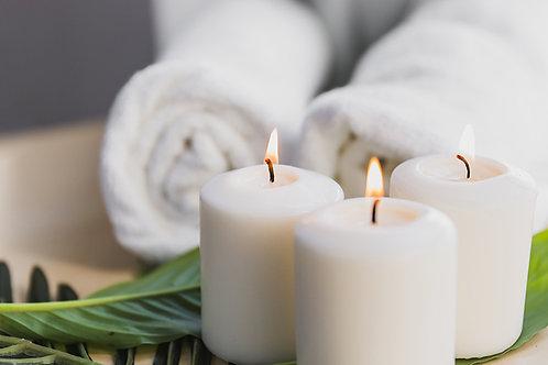 Fotomural zen velas blancas