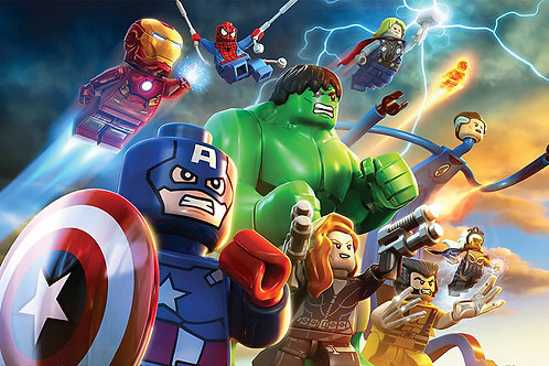 Fotomural Marvel Lego