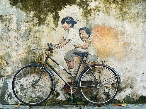 Fotomural imagen y bicicleta