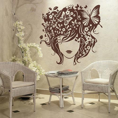 Vinilo decorativo Peinado de mariposas