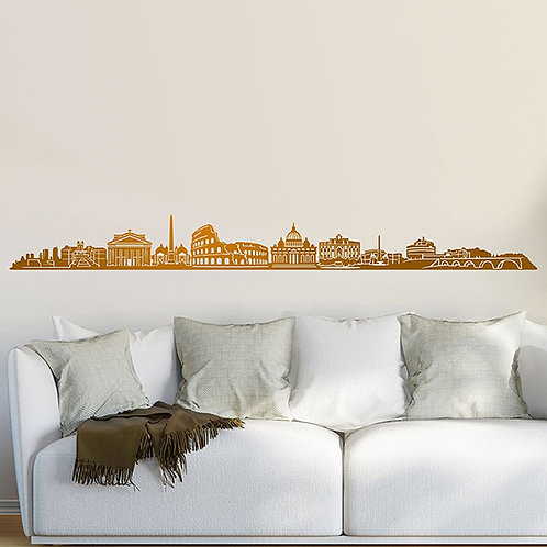 Vinilo decorativo Roma Skyline