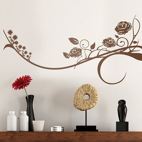 Vinilo decorativo Floral Horus