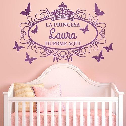 Vinilo decorativo infantil La princesa duerme aquí