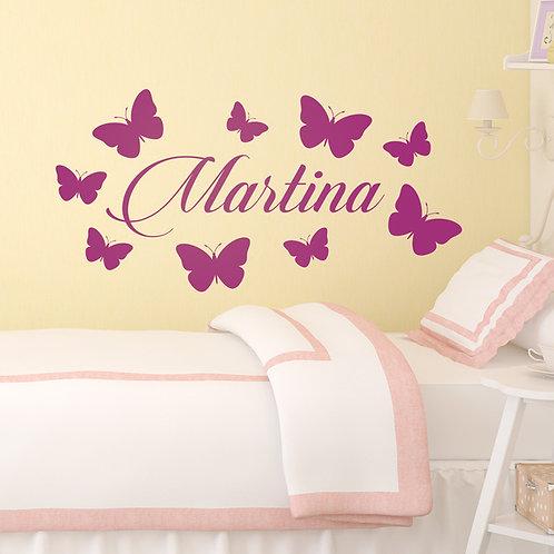 Vinilo decorativo infantil Personalizado mariposas