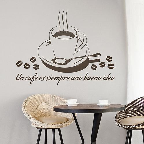 Vinilo para cocina Un café es siempre una buena idea