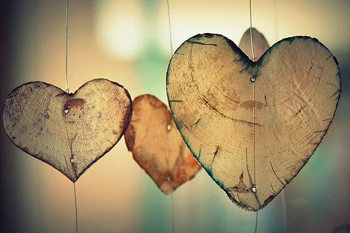 Fotomural corazones colgantes