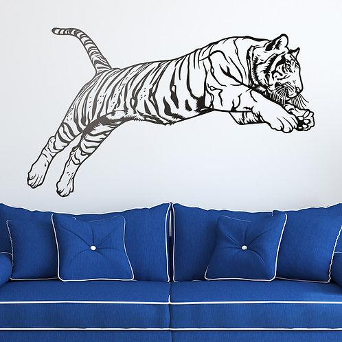 Vinilo decorativo Salto del tigre de Bengala