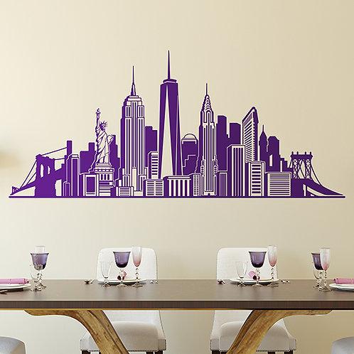 Vinilo decorativo del Skyline New York