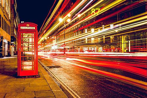 Fotomural famosa cabina de teléfono