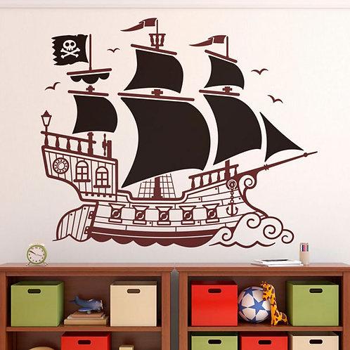 Vinilo infantil Gran Barco Pirata
