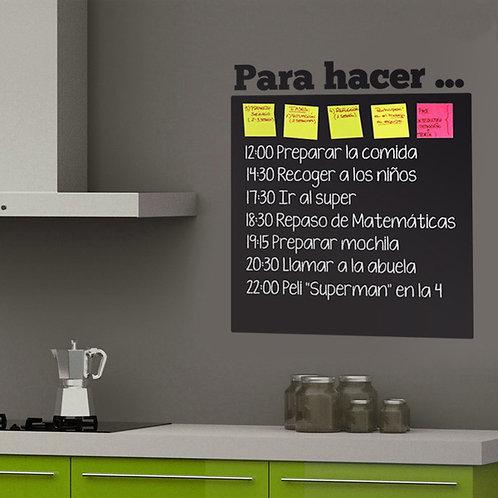 """Vinilo decorativo Pizarra Organizador """"Para hacer..."""""""
