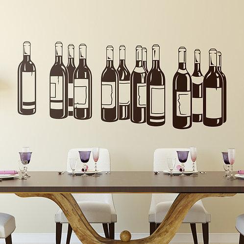 Vinilo decorativo Botellas de vino tinto