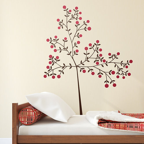 Vinilo decorativo Rama de árbol y sus frutos