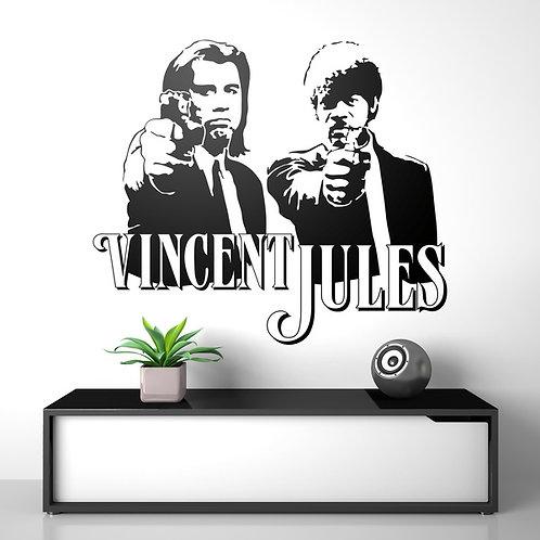 Vinilo decorativo Vincent y Jules