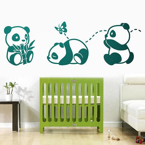 Infantil Los tres Pandas