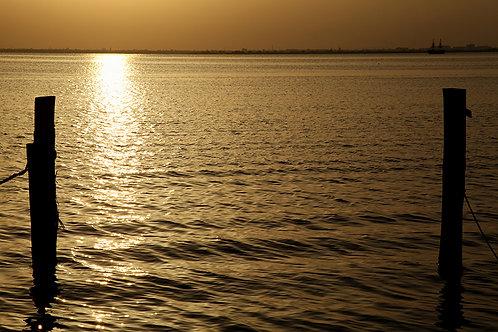 Fotomural reflejo de sol en la playa