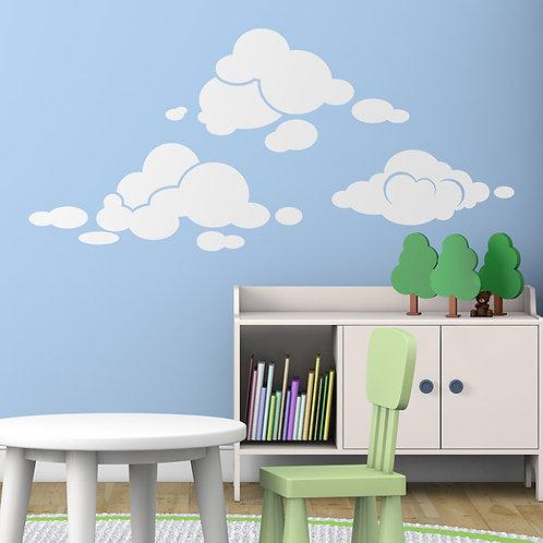 Vinilo decorativo infantil Kit de nubes