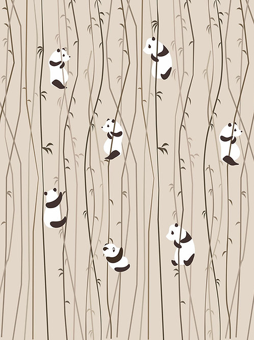 Fotomural osos pandas