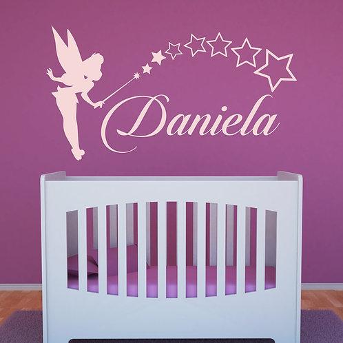 Vinilo decorativo infantil Campanilla Personalizado