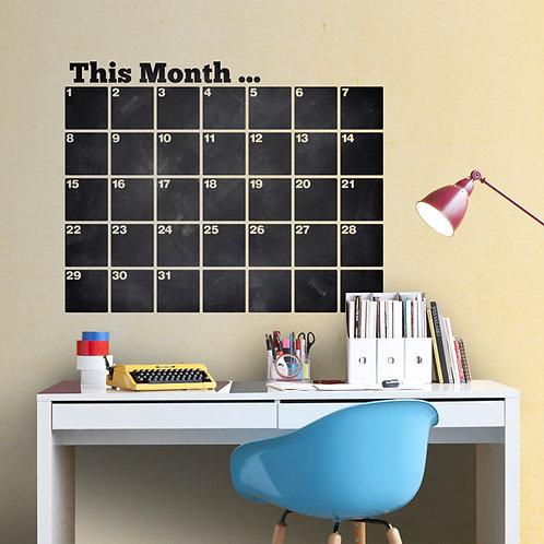 Pizarra de vinilo troquelada Calendario Organizador Inglés