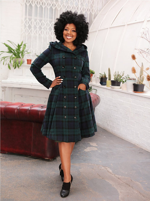 COLLECTIF, Heather blue/green check