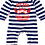 Thumbnail: Flaming Star My Dad had a Beard way before your Dad,  stripy navy/white