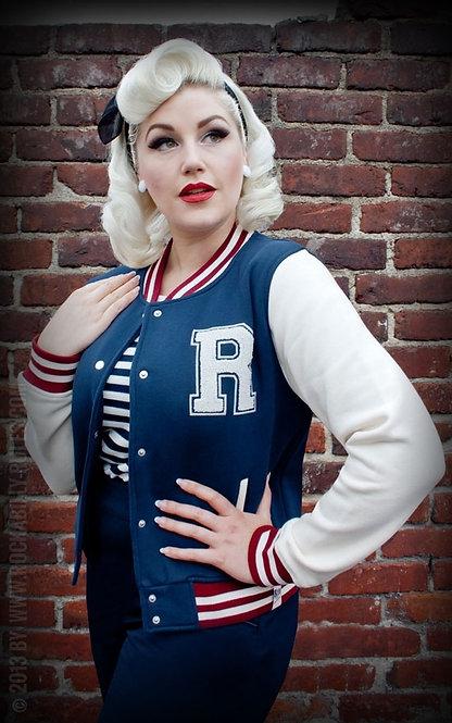 RUMBLE 59 Sweat College Jacket, blue