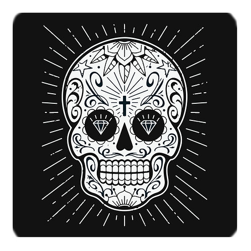 Mexican Skull Coaster, black
