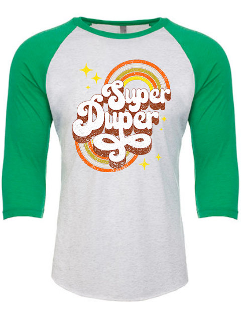 Super Duper, UNISEX raglan white/green