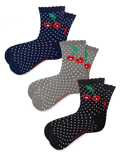 Pussy Deluxe Sweet Dotties 3 Pack Socks