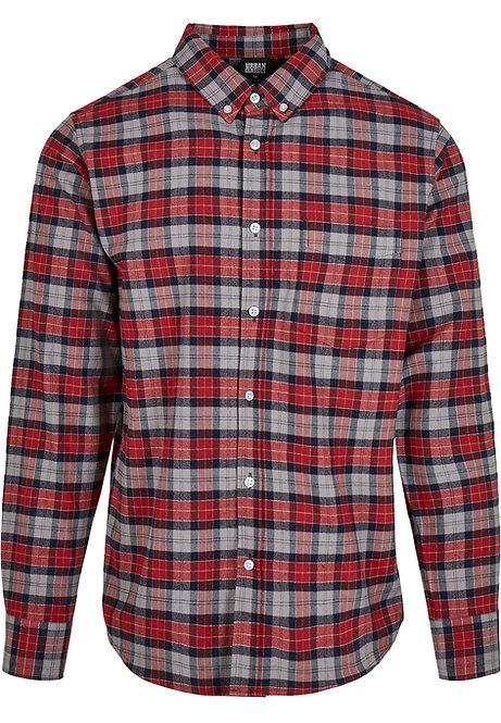 UC Checked Shirt, asphalt/red