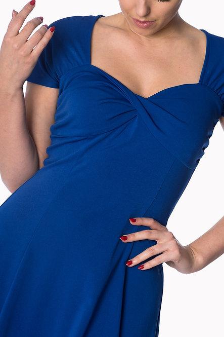 BANNED, Easy Twist Dress royal blue