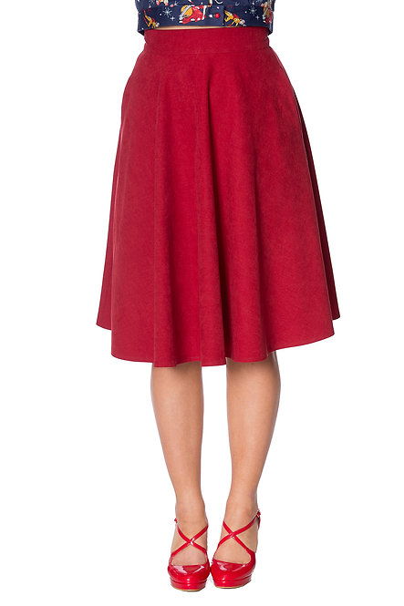 BANNED Sophisticated Skirt, red