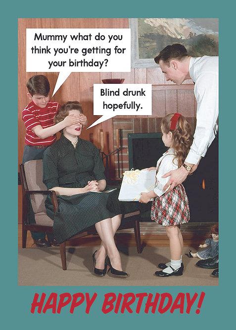 Blind drunk, Postkarte