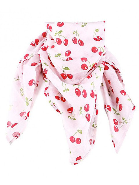 Cherry Love Scarf, white