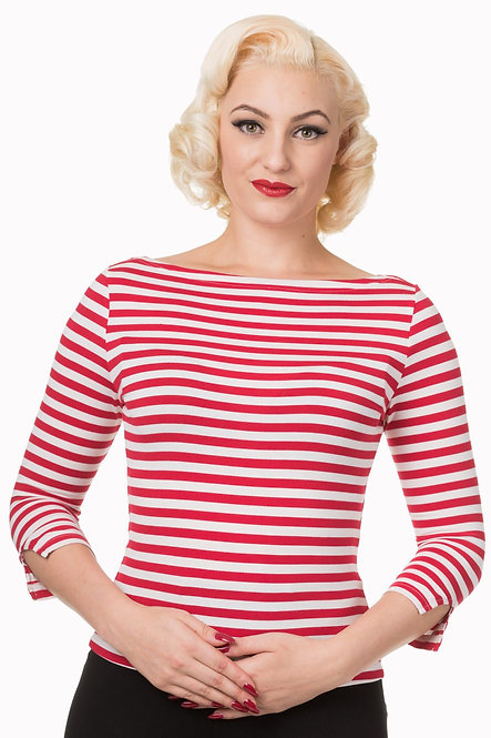 BANNED, Love Top stripy red/white