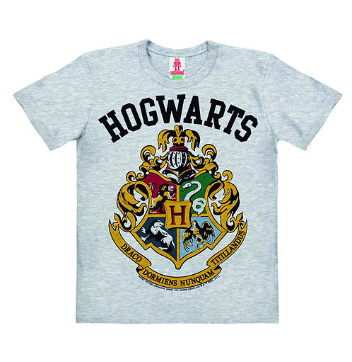 Logoshirt Hogwarts, grey