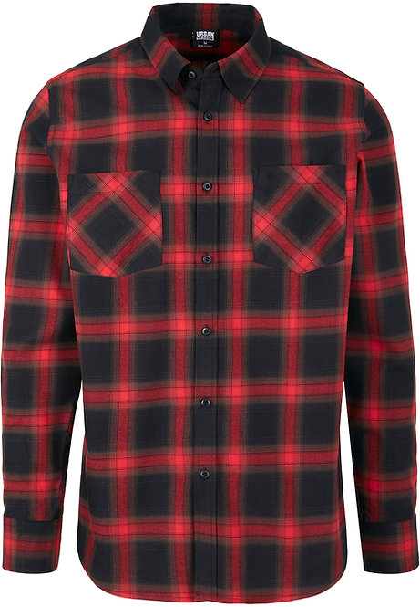 UC New Flanell, black/red