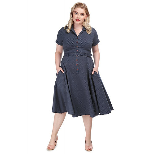 COLLECTIF, Caterina navy/white Polka