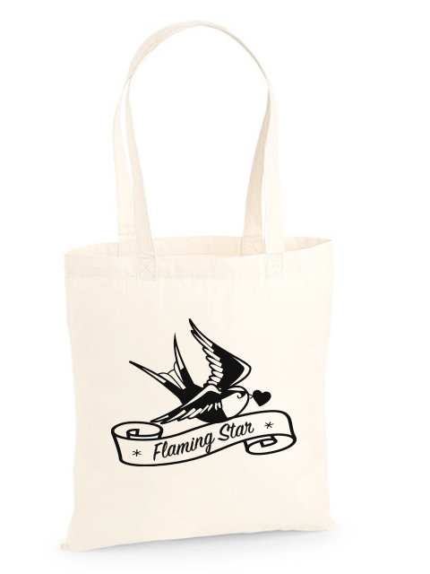 Flaming Star Logo Bag, ecru