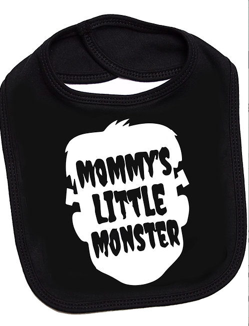 Flaming Star Mommys little Monster, black