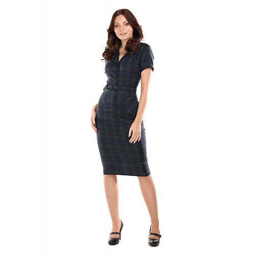 COLLECTIF, Caterina Pencil Dress check