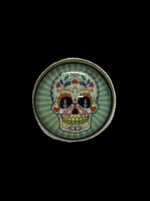 Mexican Skull, blue stripes