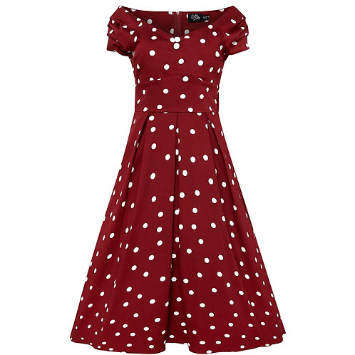 Dolly &; Dotty Lily, burgundy/white