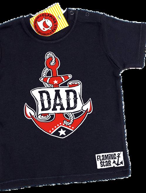 Flaming Star Dad, black